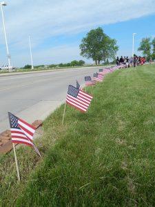 Memorial Day Flag Display