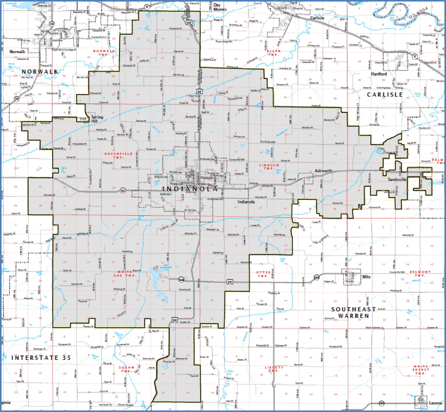 District Boundaries - Indianola Community School District