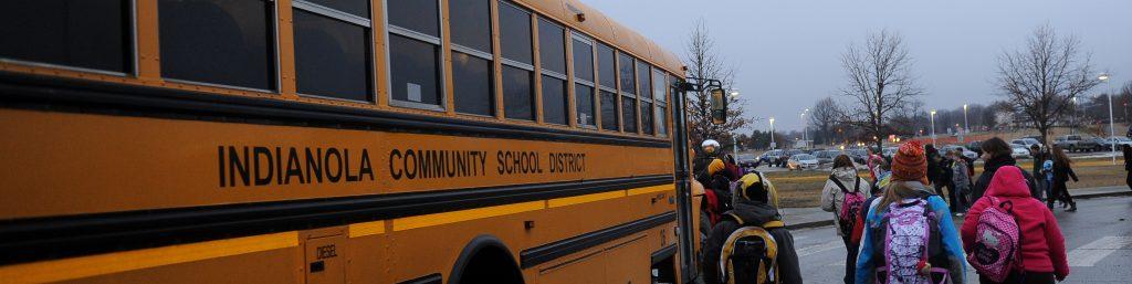 Kids walking to bus