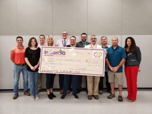 Indianola Young Professionals Donation Check
