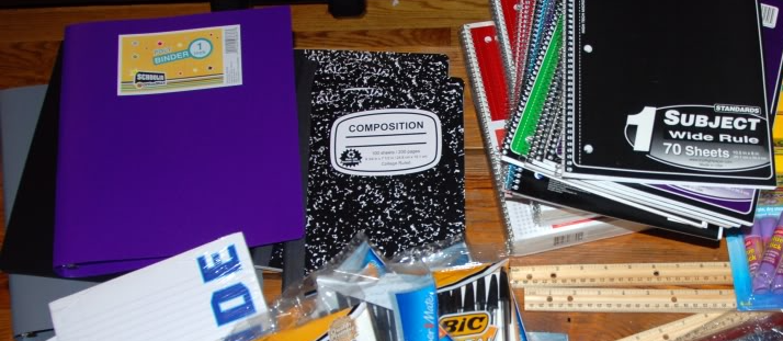 Picture of General Middle School Supplies